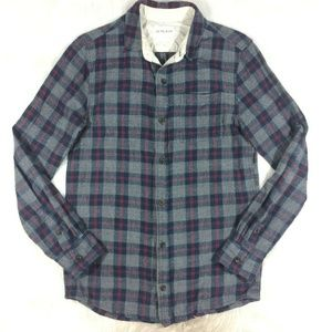 On the Byas Plaid Flannel Button Front Shirt